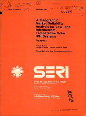 Primary view of object titled 'Geographic market suitability analysis for low- and intermediate-temperature solar IPH systems'.