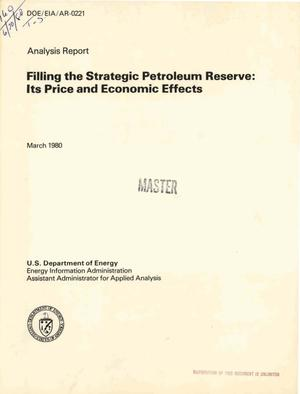 Primary view of object titled 'Filling the strategic petroleum reserve: its price and economic effects'.