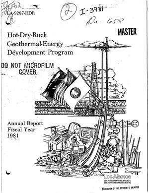 Primary view of object titled 'Hot-dry-rock geothermal-energy development program. Annual report, fiscal year 1981'.