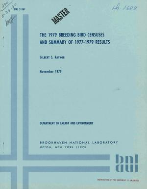 Primary view of object titled '1979 breeding bird censuses and summary of 1977-1979 results'.