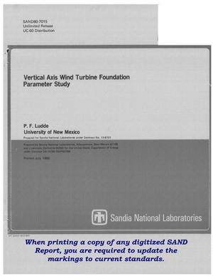 Primary view of object titled 'Vertical Axis Wind Turbine Foundation parameter study'.