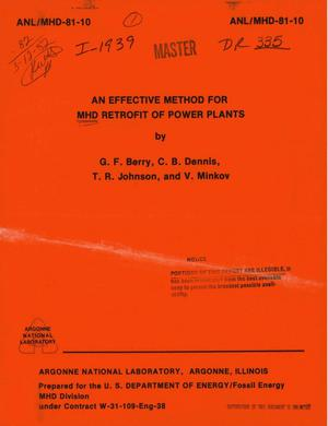 Primary view of object titled 'Effective method for MHD retrofit of power plants'.
