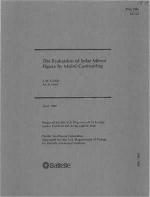 Primary view of object titled 'Evaluation of solar mirror figure by moire contouring'.