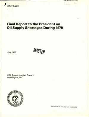 Primary view of object titled 'Final report to the President on oil supply shortages during 1979'.