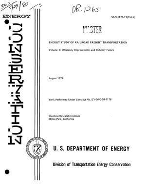 Primary view of object titled 'Energy study of railroad freight transportation. Volume 4. Efficiency improvements and industry future'.