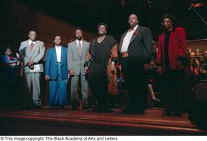 Primary view of object titled '[Black Music and the Civil Rights Movement Concert Photograph UNTA_AR0797-145-13-23]'.