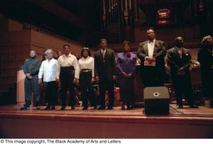 Primary view of object titled '[Black Music and the Civil Rights Movement Concert Photograph UNTA_AR0797-145-13-70]'.
