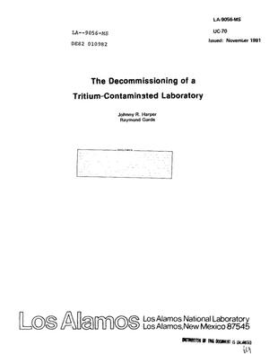Primary view of object titled 'Decommissioning of a tritium-contaminated laboratory'.