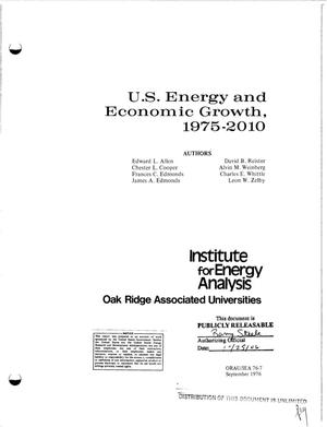 Primary view of object titled 'U. S. energy and economic growth, 1975--2010'.