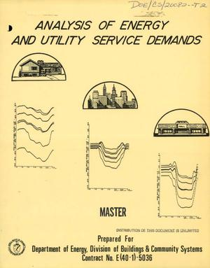 Primary view of object titled 'Analysis of energy and utility service demands'.