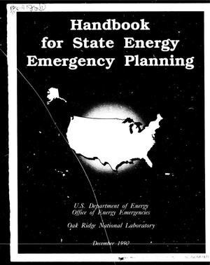 Primary view of object titled 'Handbook for state energy emergency planning'.