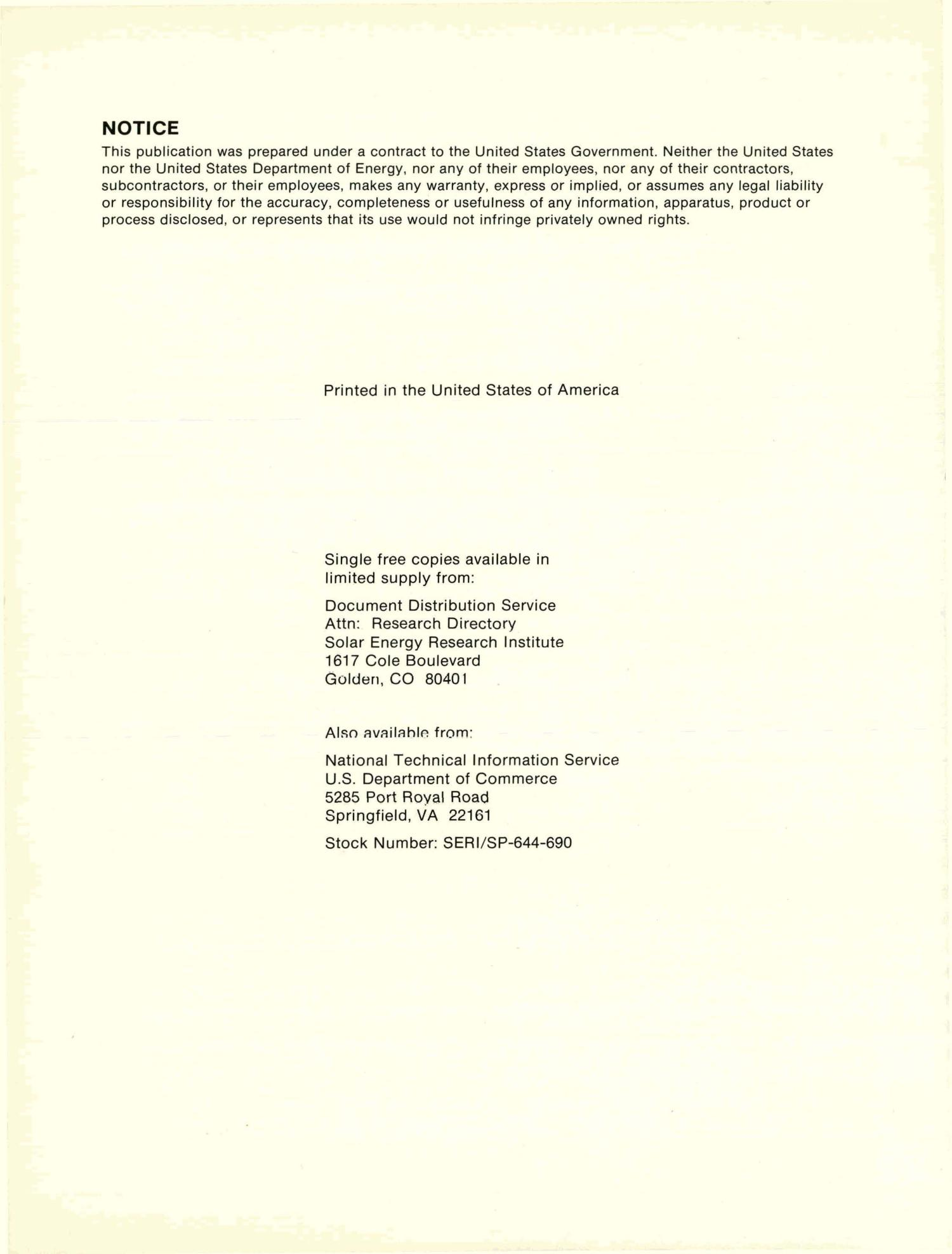 Directory of Solar Energy Research Activities in the United States: First Edition, May 1980. [1220 projects]                                                                                                      [Sequence #]: 4 of 460