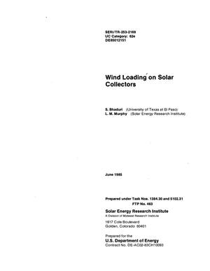Primary view of object titled 'Wind loading on solar collectors'.