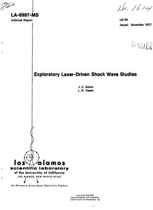 Primary view of object titled 'Exploratory laser-driven shock wave studies'.