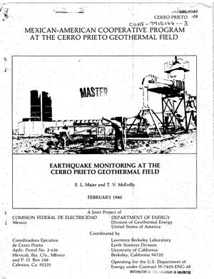 Primary view of object titled 'Earthquake monitoring at the Cerro Prieto geothermal field'.