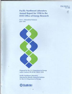 Primary view of object titled 'Pacific Northwest Laboratory annual report for 1990 to the DOE Office of Energy Research'.