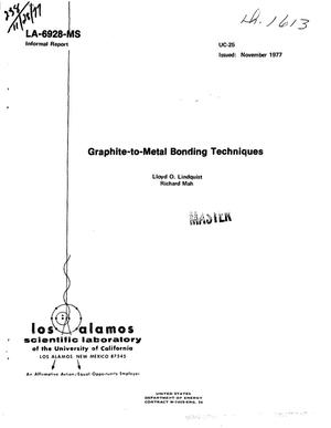 Primary view of object titled 'Graphite-to-metal bonding techniques'.