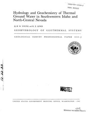 Primary view of object titled 'Hydrology and geochemistry of thermal ground water in southwestern Idaho and north-central Nevada'.
