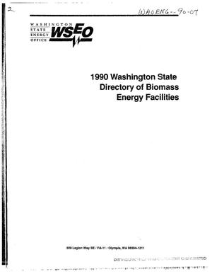 Primary view of object titled '1990 Washington State Directory of Biomass Energy Facilities'.