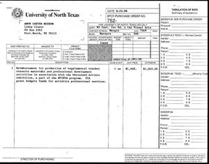 Primary view of [NTIEVA invoice for the Amon Carter Museum]