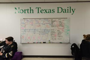 Primary view of object titled '[NT Daily new issue plan on whiteboard]'.