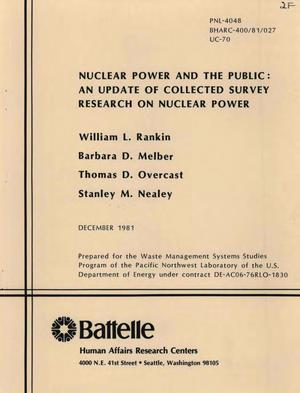 Primary view of object titled 'Nuclear power and the public: an update of collected survey research on nuclear power'.