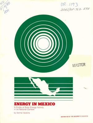 Primary view of object titled 'Energy in Mexico: a profile of solar energy activity in its national context'.