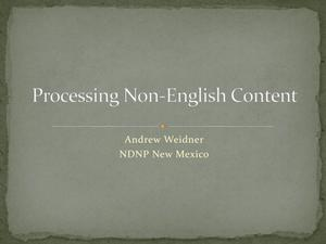 Processing Non-English Content
