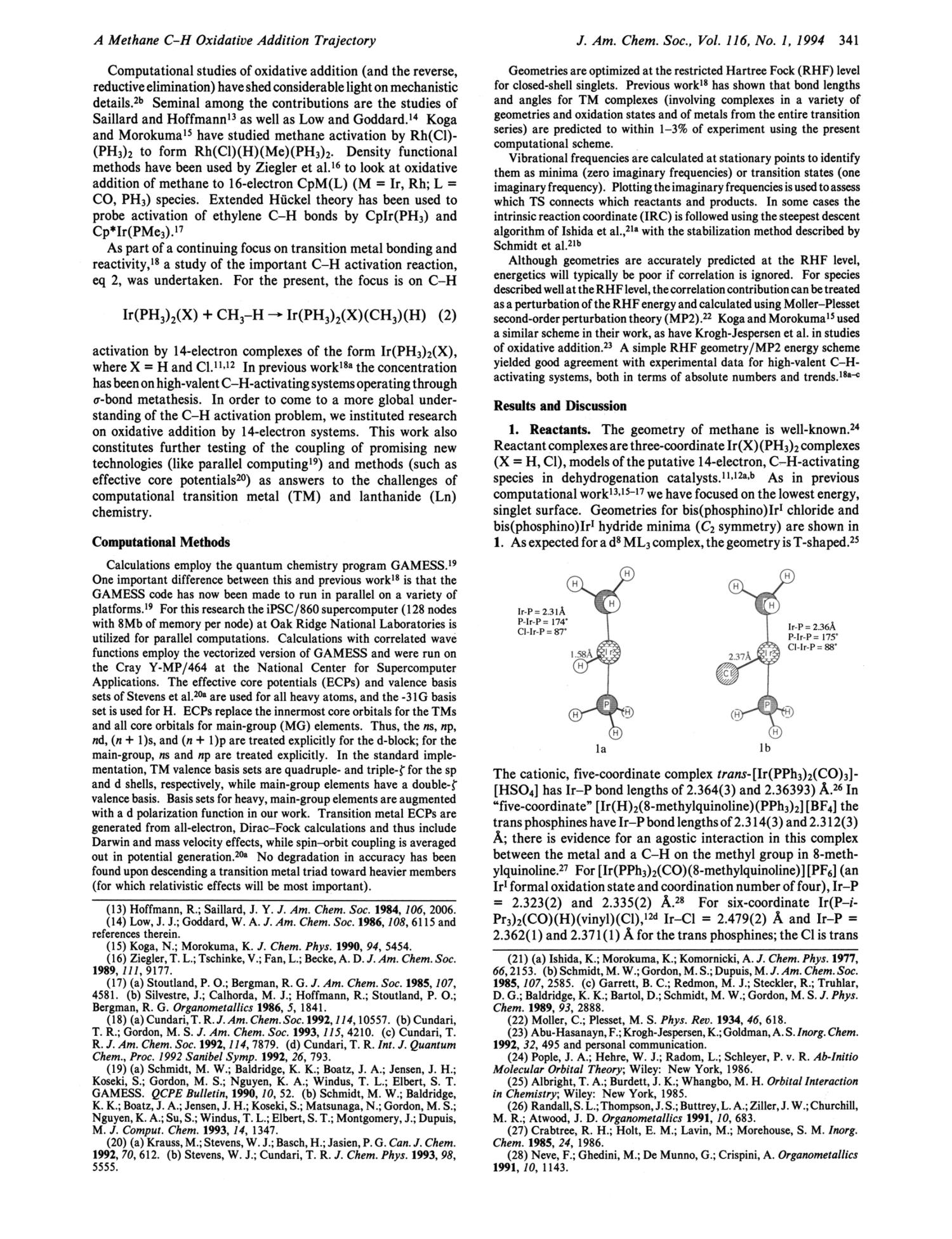 Calculation of a Methane C-H Oxidative Addition Trajectory: Comparison to Experiment and Methane Activation by High-Valent Complexes                                                                                                      341