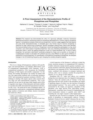 Primary view of object titled 'A Priori Assessment of the Stereoelectronic Profile of Phosphines and Phosphites'.