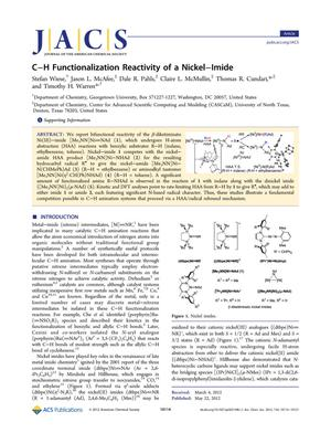 Primary view of object titled 'C-H Functionalization Reactivity of a Nickel-Imide'.