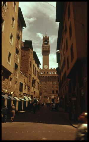 Primary view of object titled '[Streetview of Palazzo Vecchio]'.