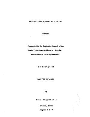 The Southern Unity Movement - Digital Library