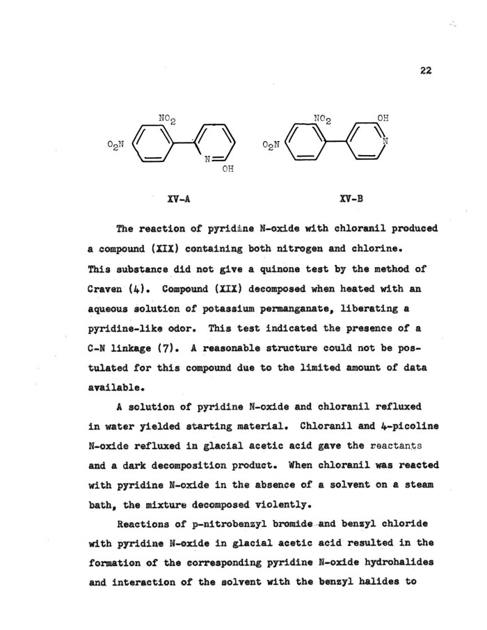 Reactions of Pyridine The Reaction of Pyridine
