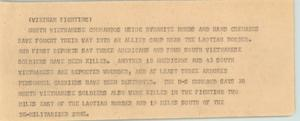 Primary view of object titled '[News Script: Vietnam fighting]'.