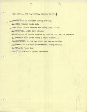 Primary view of object titled 'Music USA playlists, 1967'.