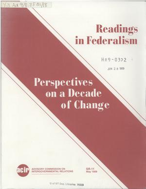 Primary view of object titled 'Readings in federalism : perspectives on a decade of change'.