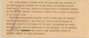 Primary view of object titled '[News Script: Aquanauts]'.
