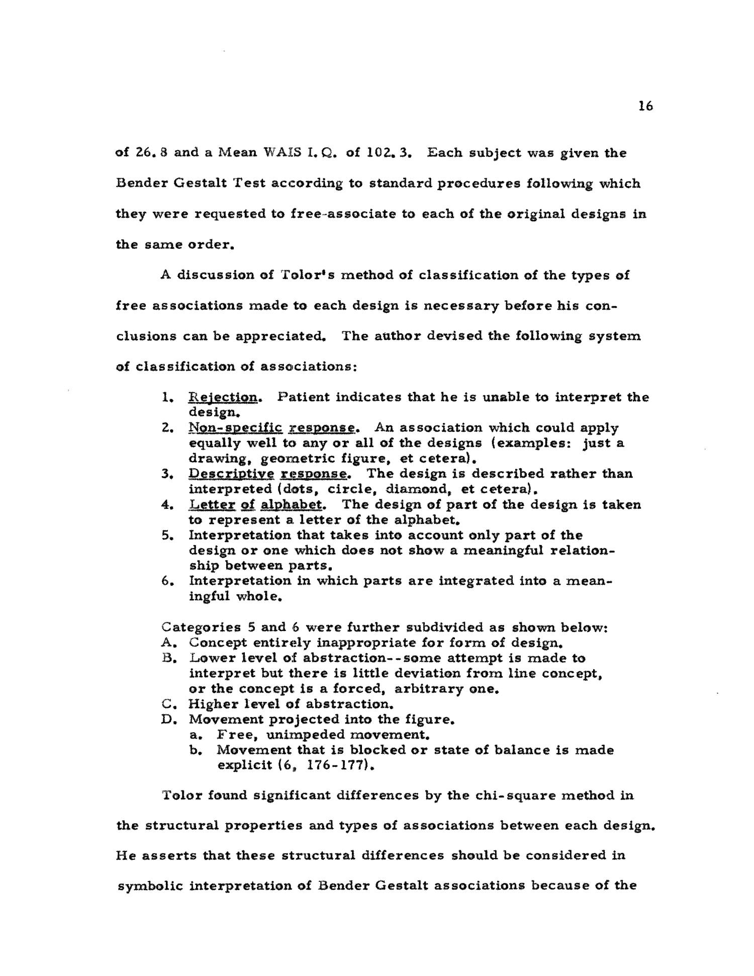 Stimulus Values of the Bender Visual Motor Gestalt Test Designs - Page 16 - Digital Library