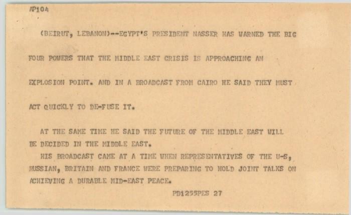News Script: Nasser] - Digital Library