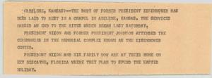 Primary view of object titled '[News Script: Eisenhower Memorial]'.