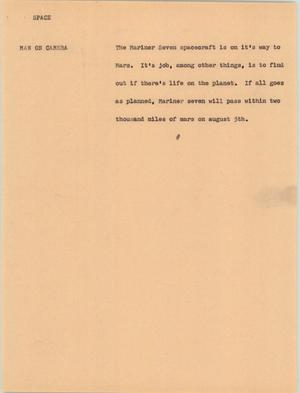 Primary view of [News Script: Space]