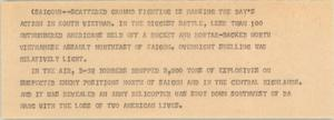 Primary view of object titled '[News Script: Vietnam developments]'.