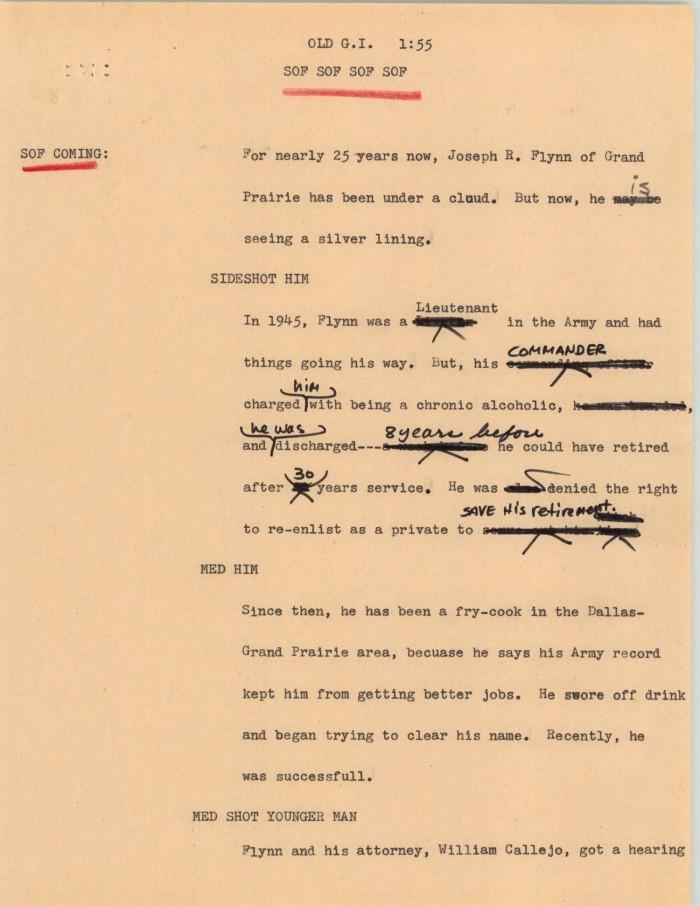 News Script: Old G I ] - Digital Library