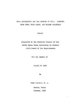 Dissertation Evil Problem Thesis  The Problem Of Using Evil Against  Dissertation Evil Problem Thesis