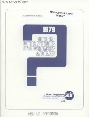 Primary view of object titled 'Changing public attitudes on governments and taxes, 1979'.