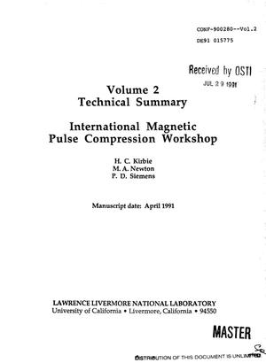 Primary view of object titled 'International magnetic pulse compression workshop: (Proceedings)'.