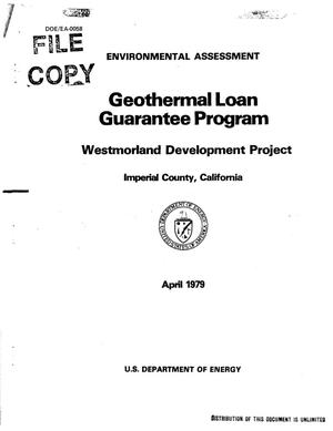 Primary view of object titled 'Geothermal Loan Guarantee Program: Westmorland Development Project, Imperial County, California: Environmental assessment'.