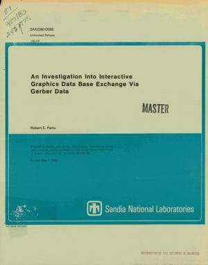 Primary view of object titled 'Investigation into interactive graphics data base exchange via Gerber data'.
