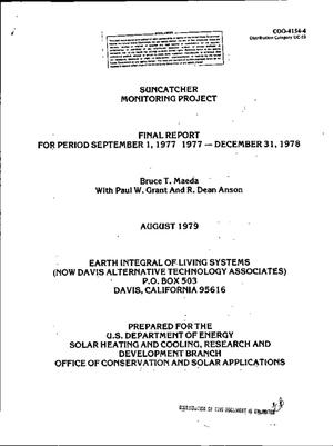 Primary view of object titled 'Suncatcher Monitoring Project. Final report, September 1, 1977-December 31, 1978'.